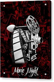 Movie Room Decor Collection Acrylic Print by Marvin Blaine