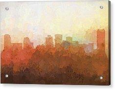 Norfolk Virginia Skyline Acrylic Print by Marlene Watson
