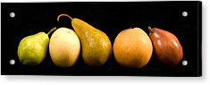5 Pears Acrylic Print by Cabral Stock