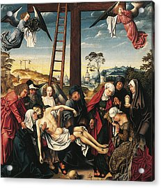 Pieta Acrylic Print by Rogier van der Weyden