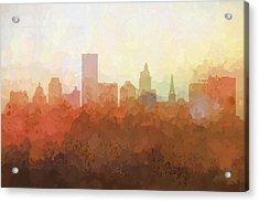 Providence Rhode Island Skyline Acrylic Print by Marlene Watson