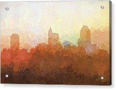 Raleigh North Carolina Skyline Acrylic Print by Marlene Watson