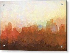 Reno Nevada Skyline Acrylic Print by Marlene Watson
