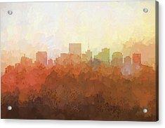 Richmond Virginia Skyline Acrylic Print by Marlene Watson