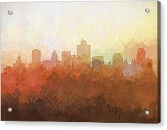 Salt Lake City Utah Skyline Acrylic Print by Marlene Watson