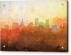 St Paul Minnesota Skyline Acrylic Print by Marlene Watson