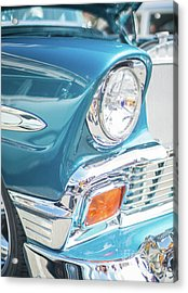 50s Chevy Chrome Acrylic Print by Mike Reid