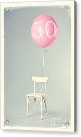 50th Birthday Acrylic Print by Edward Fielding