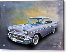 57 Chev Classic Car Acrylic Print by Jim  Hatch
