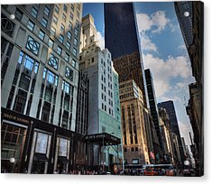 5th Ave. At Central Park South 002 Acrylic Print by Lance Vaughn