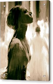 Ballerina Acrylic Print by H James Hoff