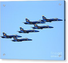 6 Blue Angels Jetting Through The Sky Acrylic Print by Wingsdomain Art and Photography