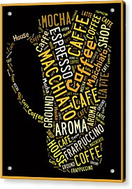 Coffee Menu Collection Acrylic Print by Marvin Blaine