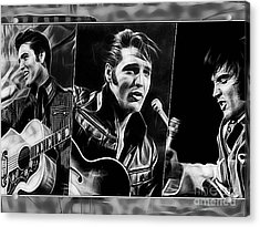 Elvis Acrylic Print by Marvin Blaine