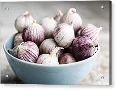 Garlic Acrylic Print by Nailia Schwarz