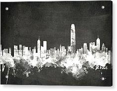 Hong Kong Skyline Acrylic Print by Michael Tompsett