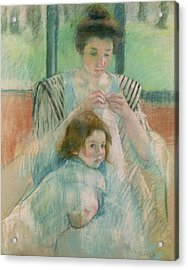 Mother And Child Acrylic Print by Mary Stevenson Cassatt