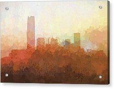 Oklahoma City Oklahoma Skyline Acrylic Print by Marlene Watson
