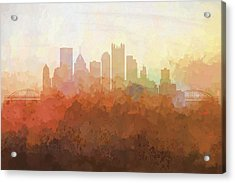 Pittsburgh Pennsylvania Skyline Acrylic Print by Marlene Watson
