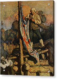 Scene From Treasure Island Acrylic Print by Newell Convers Wyeth