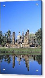 Wat Mahathat Acrylic Print by Gloria & Richard Maschmeyer - Printscapes