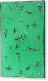 Aqua Green No. 2  Oil On Canvas 2014 36 X 24 Acrylic Print by Radoslaw Zipper