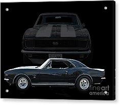 67 Chev Camero Acrylic Print by Jim  Hatch