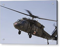 A Uh-60 Blackhawk Medivac Helicopter Acrylic Print by Terry Moore