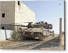 An Israel Defense Force Merkava Mark II Acrylic Print by Ofer Zidon