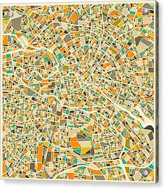 Berlin Map Acrylic Print by Jazzberry Blue