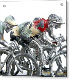 Cyclists Acrylic Print by Bernard Jaubert