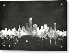 Dallas Texas Skyline Acrylic Print by Michael Tompsett