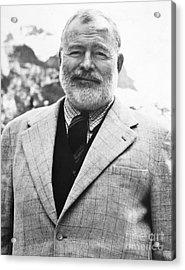 Ernest Hemingway Acrylic Print by Granger