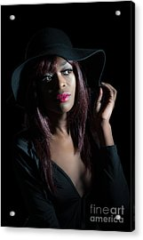 Film Noir Style Woman Acrylic Print by Amanda And Christopher Elwell