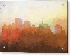 Oakland California Skyline Acrylic Print by Marlene Watson