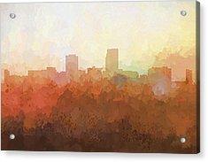 Omaha Nebraska Skyline Acrylic Print by Marlene Watson