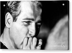 Paul Newman Collection Acrylic Print by Marvin Blaine