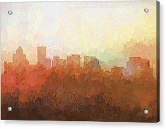 Salem Oregon Skyline Acrylic Print by Marlene Watson