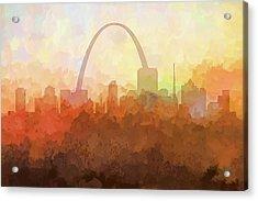 St Louis Missouri Skyline Acrylic Print by Marlene Watson