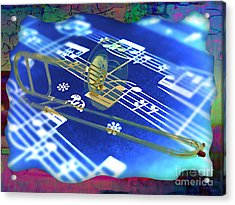 Trombone Collection Acrylic Print by Marvin Blaine