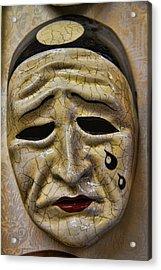 Venetian Carnaval Mask Acrylic Print by David Smith