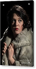 Film Noir Woman Acrylic Print by Amanda And Christopher Elwell