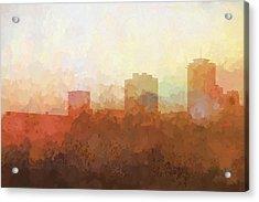 New Orleans Louisiana Skyline Acrylic Print by Marlene Watson