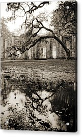 Old Sheldon Church Ruins Acrylic Print by Dustin K Ryan