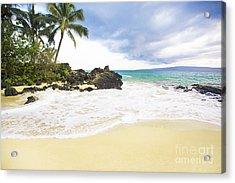 Paako Beach Makena Maui Hawaii Acrylic Print by Sharon Mau