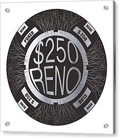 Poker Chip Acrylic Print by Francois Domain