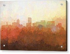 Portland Oregon Skyline Acrylic Print by Marlene Watson