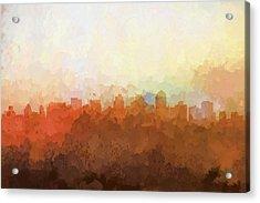 San Diego California Skyline Acrylic Print by Marlene Watson