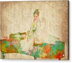 88 Keys To Her Heart Acrylic Print by Nikki Smith