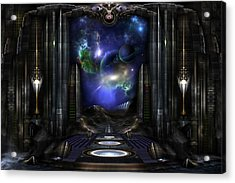 89-123-a9p2 Arsairian 7 Reporting Fractal Composition Acrylic Print by Xzendor7